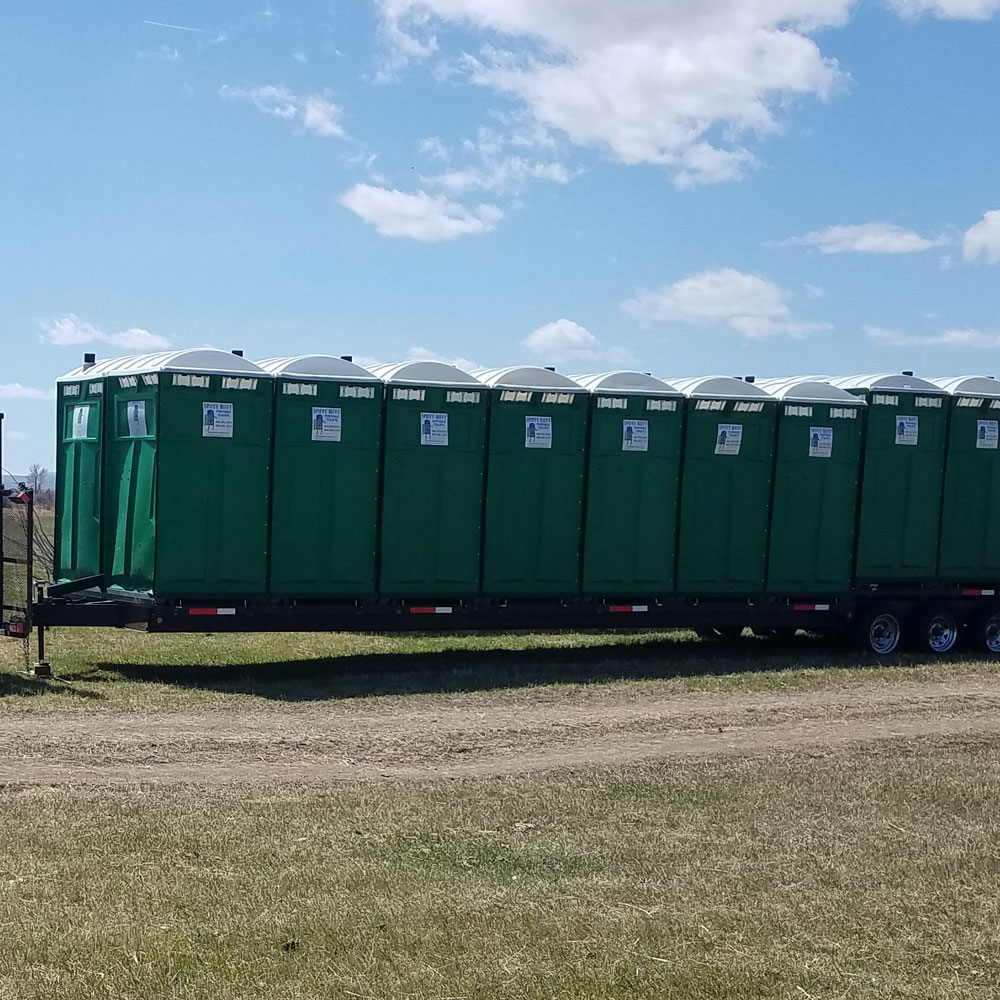 Large Porta Potty Trailer