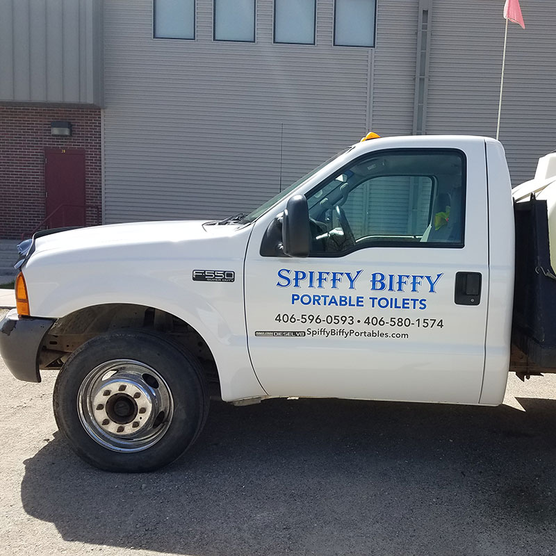 Spiffy Biffy Portables Maintenance Truck